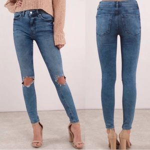 Free People High Rise Busted Skinny Jeans 28 short